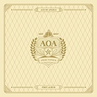 AOA-[ANGEL'S KNOCK] 1st Album A Ver CD+64p Photo Book+2p Photo Card+7p Post Card K-POP SEALED