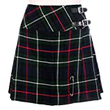 Neu Damen Mackenzie Tartan Schottisch Mini Billie Schottenrock Mod Rock Größen 6-22UK - Mackenzie, 12 UK