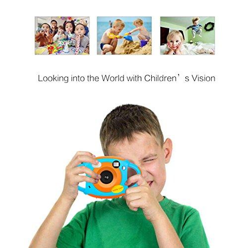 YinFun YF-ec3 - Cámara Digital HD para Niños, 1.77 HD Color, Pantalla 5 MP, Azul y naranja