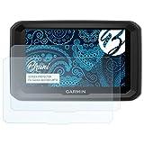 Bruni Schutzfolie für Garmin dezl 580 LMT-D Folie - 2 x glasklare Displayschutzfolie