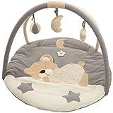 Baby Krabbeldecke/Spieldecke mit Spielbogen (Schlafendes Bärchen)