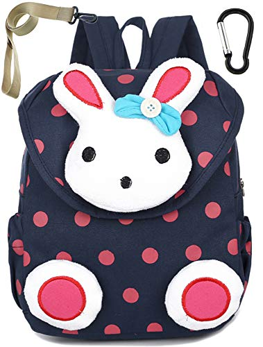 Sac A Dos Enfant Fille Maternelle Lapin Bleu Bambin Cher Cartable Maternelle Garderie(1-3ans)
