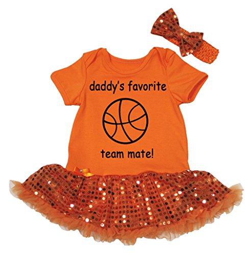 Petitebelle Baby Mädchen (0-24 Monate) Body orange Ornage Gr. S, Ornage Favorite Short-sleeve Bodysuit