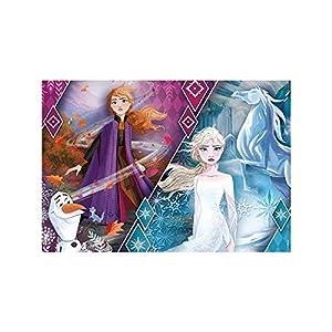Clementoni-Clementoni-20163-Glitter Disney Frozen 2-104 Piezas, Puzzle para niños, Multicolor, 20163
