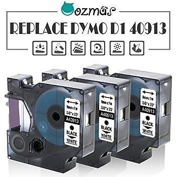 geeignet f/ür DYMO LabelPOINT /& LabelManager LM100 // LM120P // LM150 // LM160 // LMPC2 // LM200 // LM210D // LM220P // LM260 // LM280 // LM300 // LM350 // LM400 // LM260 2er Set schwarz auf wei/ß // 9mm x 7m Schriftband kompatibel zu DYMO D1-Band // 40913