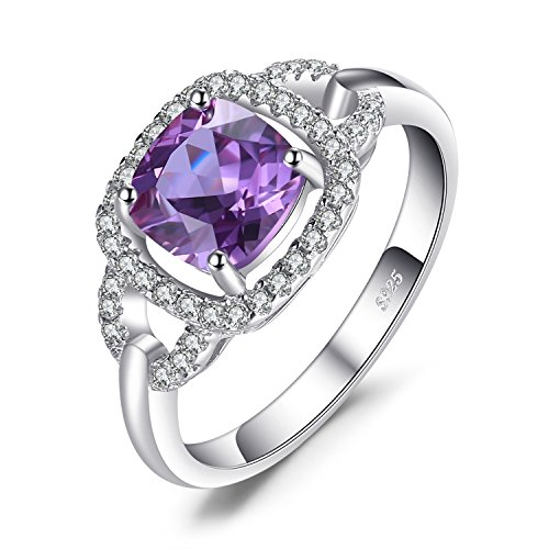 n 2.5ct Erstellt Alexandrit Sapphire Halo Ring 925 Sterling Silber ()
