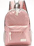 Bolso de escuela para chicas adolescentes Ligero Mochila Mochila de lona lunar de 14 '-15' Mochila para portátil (Rosa claro)