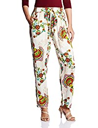 Amare Women's Printed Palazzo With Side Zipper