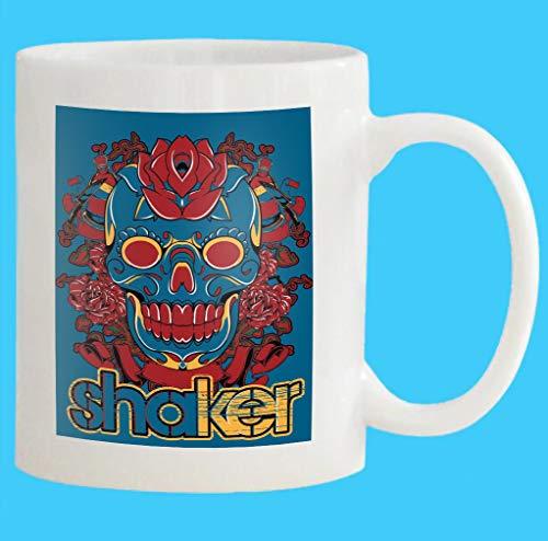 Custom Coffee Mug 11 Oz shaker skull available Yellow Yellow White Ceramic Gifts Tea Cup -