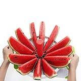 Dedeka Anguria affettatrice con Impugnatura Comfort in Gomma, Taglia Frutta affettatrice, affetta Melone Grande