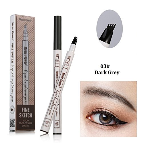 86074cd0116 Tattoo Eyebrow Pen with 3 Colors Long-lasting Waterproof Brow Gel and Tint  Dye Cream