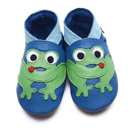 Inch Blue - 1785 XL - Chaussures Bébé Souples - Frog - Bleu / Vert - T 22-23 cm - 18-24 mois