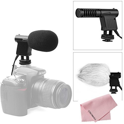 Boya BY-VM01 Pro Video & Broadcast Directional Condenser Microphone with Windshield for Nikon D800 D800E D3200 D600 D5100 D7000 D300s D3s D3100 D4 DSLR Camcorder DV 51SorEHH85L