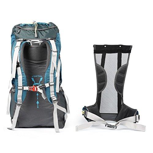 Bergsteiger-tasche (OUTAD 60+5L Outdoor Wasserdicht Nylon Sport Rucksack Wandern Tasche Camping Reise Pack Bergsteiger Klettern Sightseeing Wanderung)