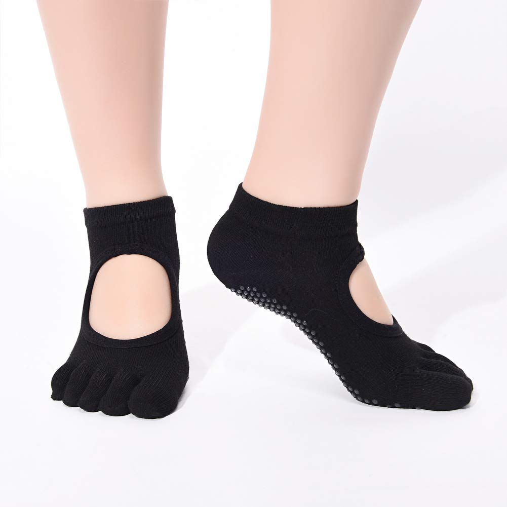 MXYXY Anti-Rutsch-Socken Yoga-Socken Sport-Damensocken Baumwollsocken Bodensocken Damentanz Barry Fitness Comfort (DREI Paare)