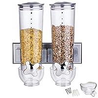 dispenser per Corn Flakes e cereali. Questi fantastici dispenser sono ideali per cereali e Corn Flakes. Basta mettere sotto una ciotola e ruotare. I Corn Flakes cadono semplicemente nella ciotola. I contenitori sono facili da pulire e si poss...