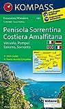 Halbinsel Sorrent /Penisola Sorrentina - Costiera Amalfitana - Vesuvio - Pompei - Salerno - Sorrento: Wanderkarte mit Aktiv Guide Dt. /Ital. /Franz. /Engl. 1:50000 (KOMPASS-Wanderkarten, Band 682) -