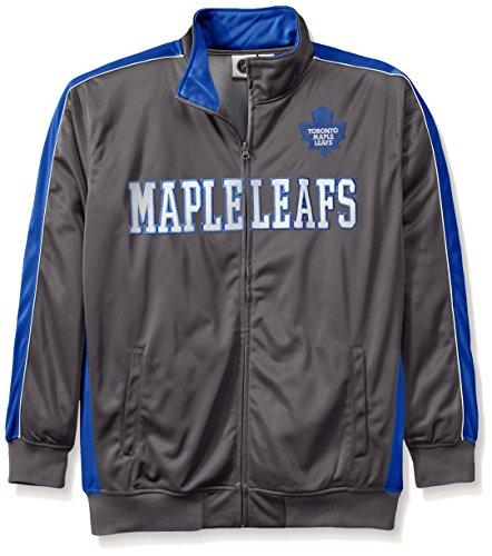 NHL Big und Tall Herren Reflektierende Track Jacke, herren, Charcoal/Blau, 2X/Tall (Track Jacket Charcoal)