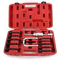 AllRight 16-tlg Innenlager Grundloch Lager Abzieher Set Sackloch Auszieher Werkzeug mit Gleithammer Innenlagerabzieher-Set