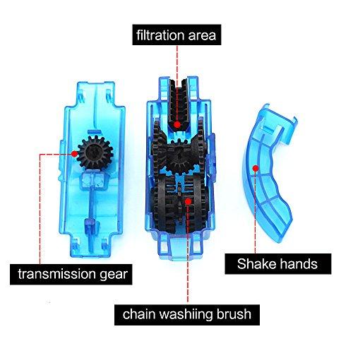 Mture Fahrrad Kettenreinigungsgerät Cycling Bike Bicycle Chain Cleaner – Blau - 5