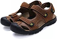 Asifn Men Outdoor Hiking Sandals Breathable Athletic Climbing Summer Beach Shoes Mens Closed Toe Sport Sandal