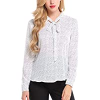 Cloom Frauen Top Polka Dot Druck Chiffon Langarmshirt Damen T-Shirt Bluse Große Größe Hemd Lange Hülsen Beiläufige... preisvergleich bei billige-tabletten.eu