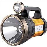 Multifunktionale LED-Suchscheinwerfer, wiederaufladbar, tragbar, tragbar, tragbar, hohe Leistung, super hell, 950 W, Taschenlampe, Blendung 5000 Superhelles Xenon-Licht Jagd-Fernbedienung
