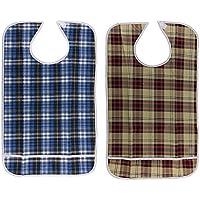 MagiDeal 2X Erwachsene Lätzchen mit Tasche, Wasserdicht (Adult Disability Bib) - Hellblau preisvergleich bei billige-tabletten.eu