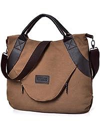 ALIKEEY Retro Women S Canvas Cremallera Bolsas De Hombro Con Corssbody Bag & Bolso De
