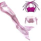 Das Beste Mädchen Meerjungfrau Bikini Kostüm Schwimmanzug Badeanzüge Tankini Muschelbikini Bademode Badeanzüge Meerjungfrauenschwanz Schwimmen Baden, 150, Farbe: heiß Rosa+Rosa