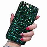 Miagon Glänzend Hülle für Huawei P30,3D Handschlaufe Glitzer Bling Strass Hülle Diamant Transparent Handyhülle Bumper Case Tasche Schutzhülle,Grün