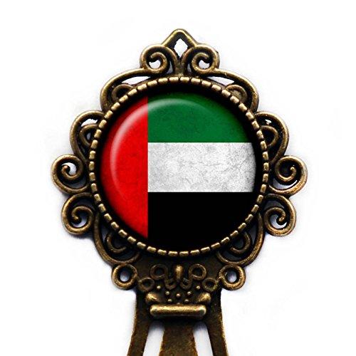 United Arab Emirates Emirati Flag Vereinigte Arabische Emirate Flagge Lesezeichen (Lesezeichen Arabisch)