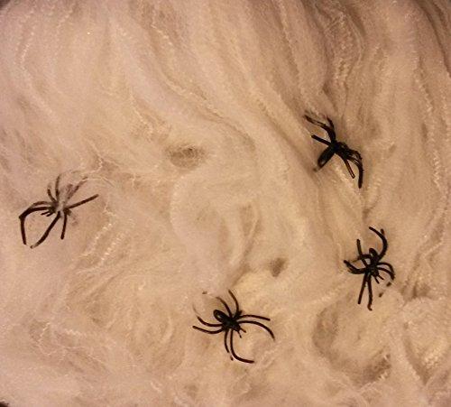 en-396 g-Netz mit-20-Spinnen-Halloween-Grusel-Horror-Party-Deco-Hexen-EU Ware-vom Sachsen-Versand (Orange Und Schwarz Halloween Nägel)