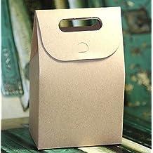 50pz caja con asa (cartón kraft 300g Confetti Panificio bolsas
