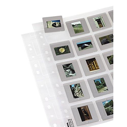 Hama 100 Diahüllen für gerahmte Dias (Dia-Archivierung im Format 5x5cm, bis zu 2000 Dias) transparent