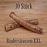 30 Stück Rinderstrossen 30cm Rinderluftröhren Kausnack Kauartikel - wie Pferdestrossen Dörrfleisch