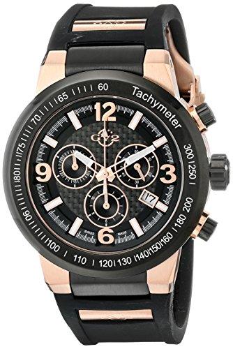 GV2by Gevril Herren 8200Novara Analog Display Swiss Quartz Black Watch