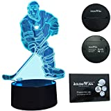 InnoWill Eishockey Puck Schlittschuhe Helm Geschenk Nachtlicht LED Lampe 7Colors