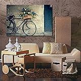 HENGCHENG Wandbilder Gemälde Leinwanddrucke Retro Bike Leinwand Malerei Günstige Moderne Gemälde Wandbild Leinwand Home Decoration Wohnzimmer Wandbilder, Kein Rahmen, 60X90 cm