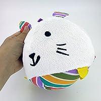 Preisvergleich für Baby-lustiges Spielzeug Baby Lovely Rabbit Soft Hand Rasseln Bell Kinder Baby Funnny Crawlen Bell Ball Spielzeug Geschenk