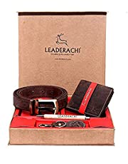 Leaderachi 100% Genuine Hunter Leather Wallet & Leather Wais