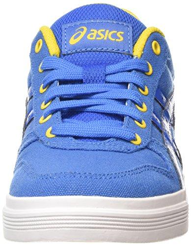 Asics Aaron - Scarpe da Ginnastica Basse Unisex – Adulto, Verde (light Olive/off-white 8502), 44 EU Blu (classic Blue/classic Blue 4242)