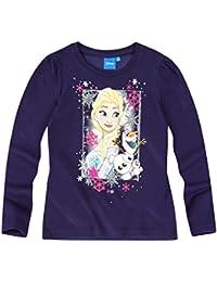 Disney El reino del hielo Chicas Camiseta mangas largas 2016 Collection - Azul marino