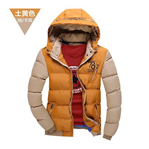 Buggy Herren Baumwolle Mantel winter Kleidung, Hüte und die stilvollen Ziernähten Männer Kleidung aus Baumwolle,Yellow,M (Diesel Herren Thong)