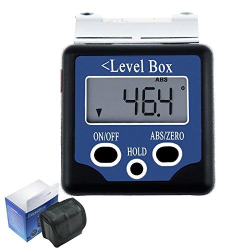 180 degrés Angle d'angle numérique Indicateur d'angle Inclinomètre Indicateur d'angle de rapporteur Intégré à l'aide d'un haut niveau d'esprit Magnétophone intégré