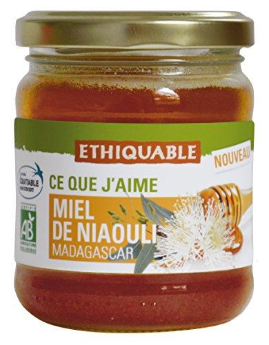 Ethiquable Miel de Niaouli Madagascar Bio 250 g - Lot de 3