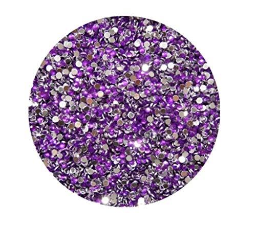 Strass Rond, Violet, 2 mm, env. 100 pièces