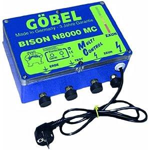 Göbel Weidezaungerät Netzgerät Bison M 8000 MC bis 80km Zaunlänge 5,00J 230V
