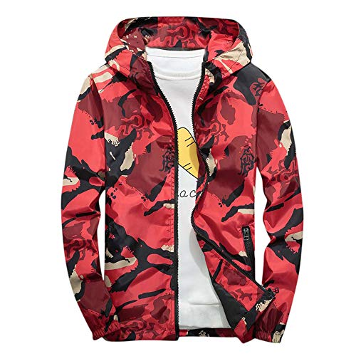 TIMEMEAN Camo Raincoat Mens Waterproof Jacket Rain Coat Windproof Autumn Winter Warm Lightweight Outdoor Hooded Outwear