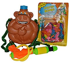 Toyzstation Pichkari Monkey Water Tank With Free Balloons (Multicolor) For Holi Festival